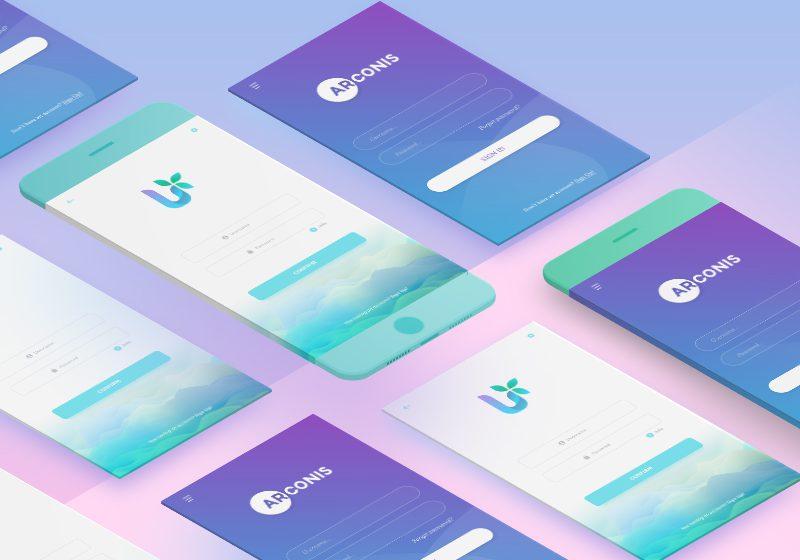 Interfete de login pentru mobile apps