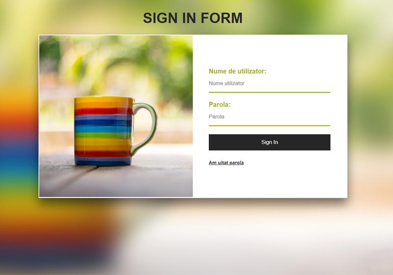 Template web de login