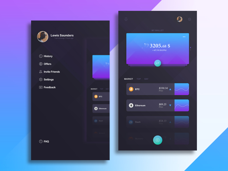 Template UI Wallet