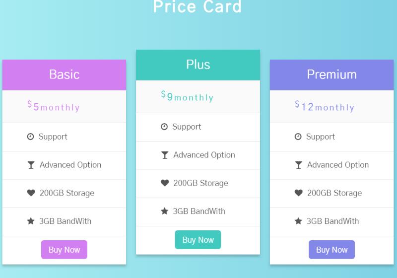 Price card